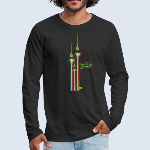 Fernsehturm Berlin PopArt ickeshop BachBilder - Männer Premium Langarmshirt
