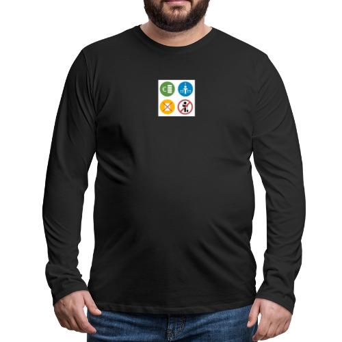4kriteria obi vierkant - Mannen Premium shirt met lange mouwen
