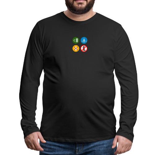 4kriteria ubi vierkant trans - Mannen Premium shirt met lange mouwen