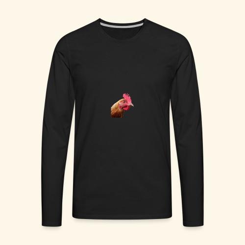 chicken PNG2159 - Miesten premium pitkähihainen t-paita