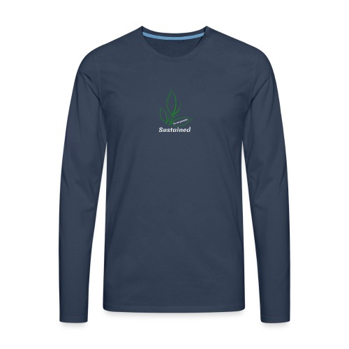 Sustained Sweatshirt Navy - Herre premium T-shirt med lange ærmer