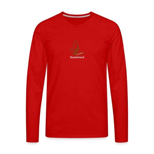 Sustained Sweatshirt Navy - Herre premium T-shirt med lange ærmer