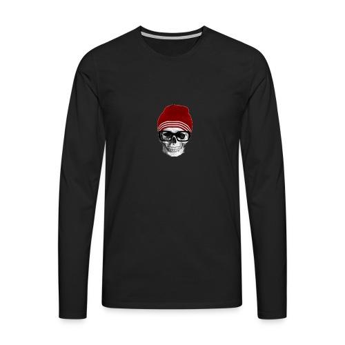 Tête de mort tendance - T-shirt manches longues Premium Homme