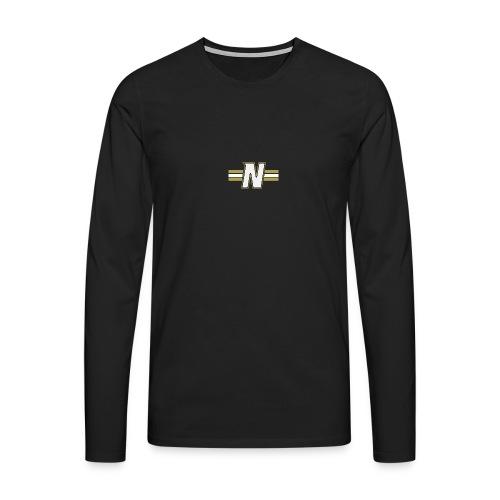 White N with stripes - Men's Premium Longsleeve Shirt