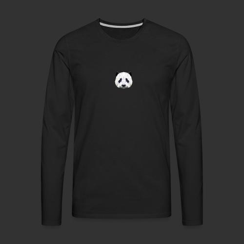 Panda Low Poly - T-shirt manches longues Premium Homme