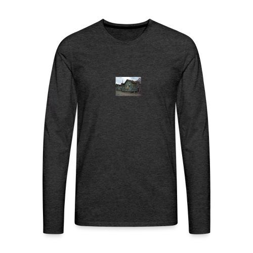 Aika on pysähtynyt Sortavalassa - Miesten premium pitkähihainen t-paita
