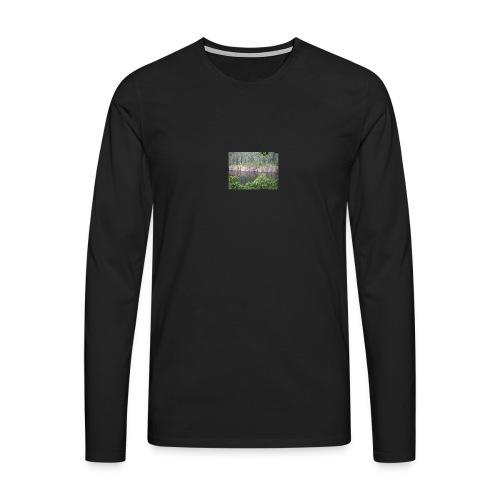 Laatokan maisemissa - Miesten premium pitkähihainen t-paita
