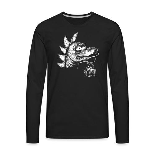 FILOZOSMOK - Koszulka męska Premium z długim rękawem