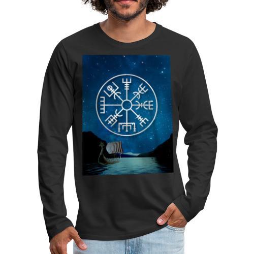 Vegvisir fiordo vichingo - Maglietta Premium a manica lunga da uomo