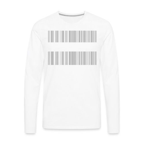 BARCODE BLACK - Men's Premium Longsleeve Shirt