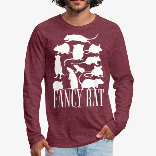 Fancy Rat - Miesten premium pitkähihainen t-paita