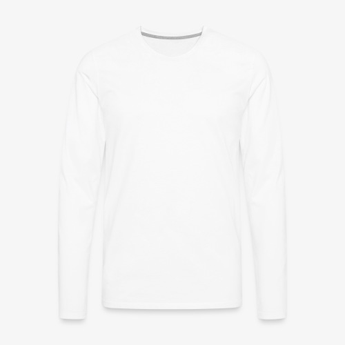 thiccc text logo WHITE - Men's Premium Longsleeve Shirt