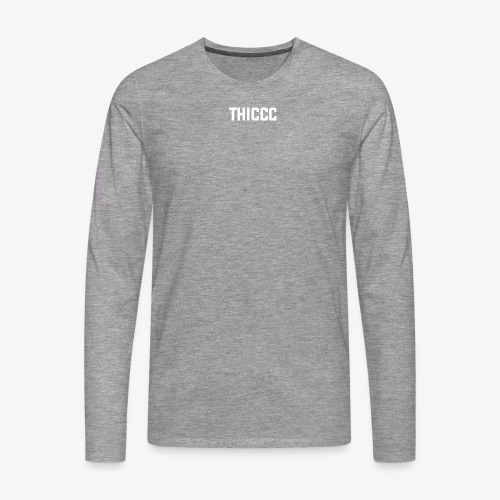 thiccc text logo WHITE - Men's Premium Longsleeve Shirt