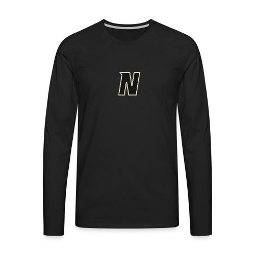 Nordic Steel Black N - Men's Premium Longsleeve Shirt