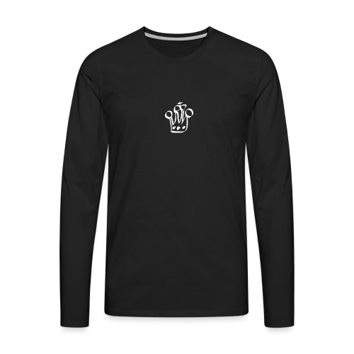 MTeVrede 6 kroon wit2 - Men's Premium Longsleeve Shirt