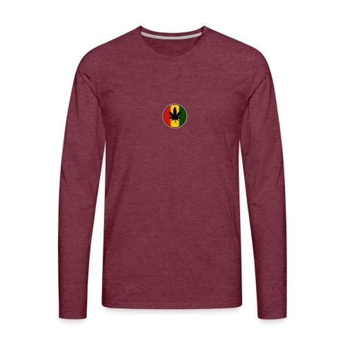 weed logo - Herre premium T-shirt med lange ærmer