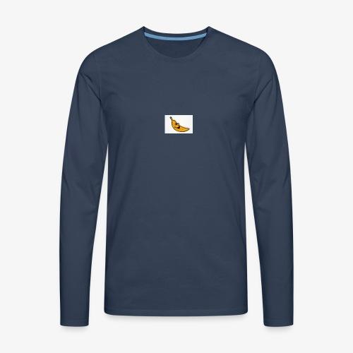 Bananana splidt - Herre premium T-shirt med lange ærmer
