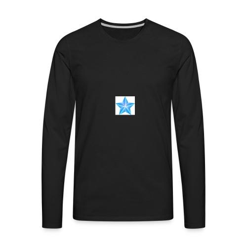 blue themed christmas star 0515 1012 0322 4634 SMU - Men's Premium Longsleeve Shirt