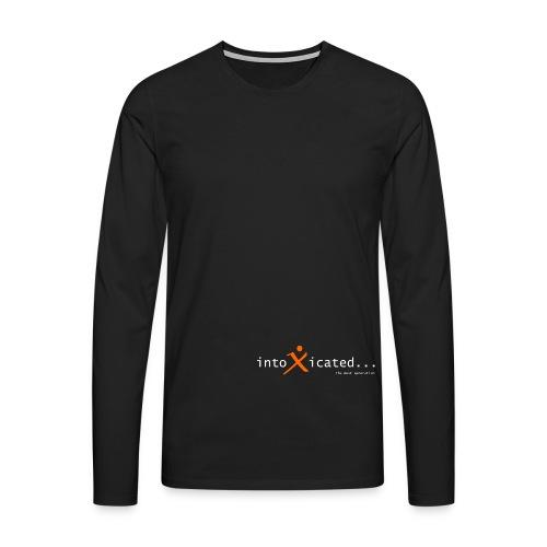 intoxicated schriftzug schwarz vektorgra - Männer Premium Langarmshirt
