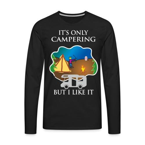 To tylko campering, ale to lubię - Koszulka męska Premium z długim rękawem
