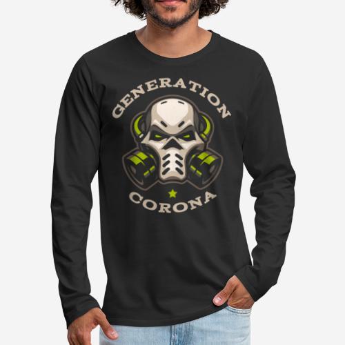 corona generation covid - Männer Premium Langarmshirt
