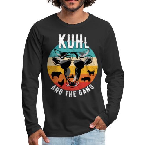 Kuh und Bauernhof - Kuhl and the Gang - Männer Premium Langarmshirt