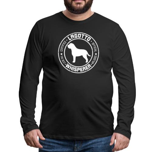 Lagottowhisperer I - Miesten premium pitkähihainen t-paita