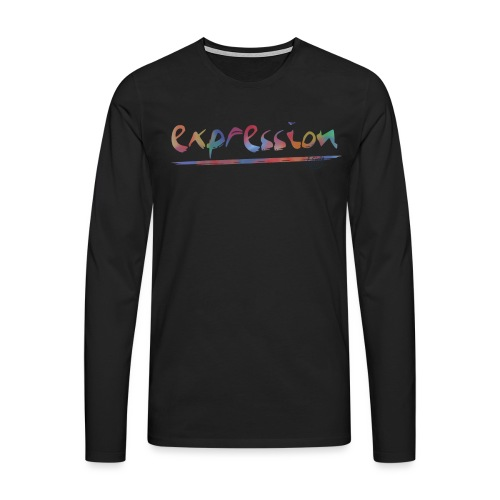 Expression typography - Men's Premium Longsleeve Shirt