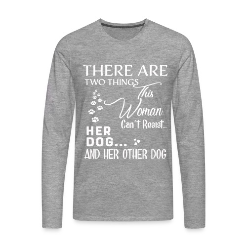Her dog and her other dog shirt - Men's Premium Longsleeve Shirt