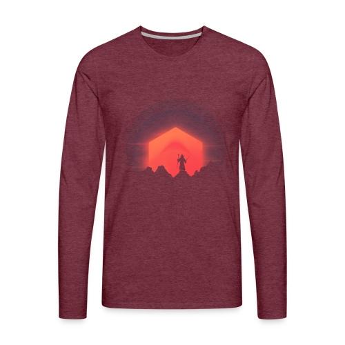 The Nightly Adventure D20 - DnD Dungeons Dragons - Miesten premium pitkähihainen t-paita