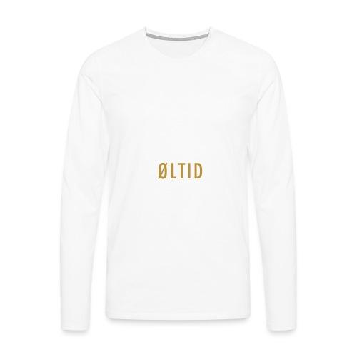 øltid hvitt langermet - Premium langermet T-skjorte for menn