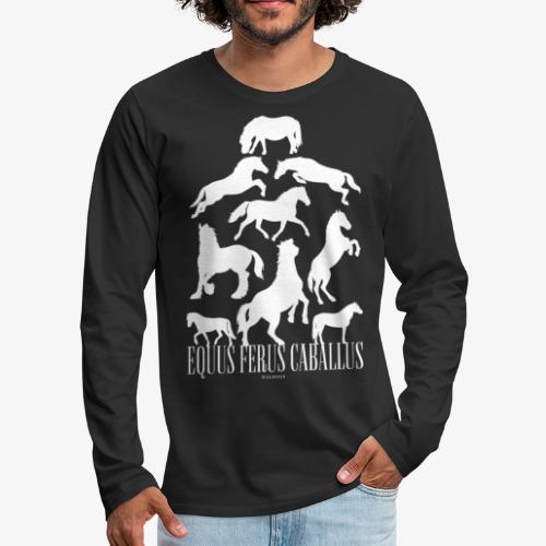 Equus Ferus Caballus - Miesten premium pitkähihainen t-paita