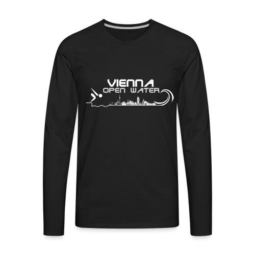 Logo VOW blanco Kapuzenpulli png - Männer Premium Langarmshirt