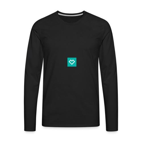 logo social media - Miesten premium pitkähihainen t-paita