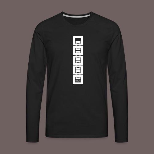 GBIGBO zjebeezjeboo - Rock - Bracelet Squares 02 - T-shirt manches longues Premium Homme