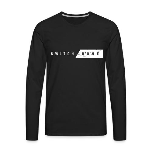 Switchbone_white - Mannen Premium shirt met lange mouwen
