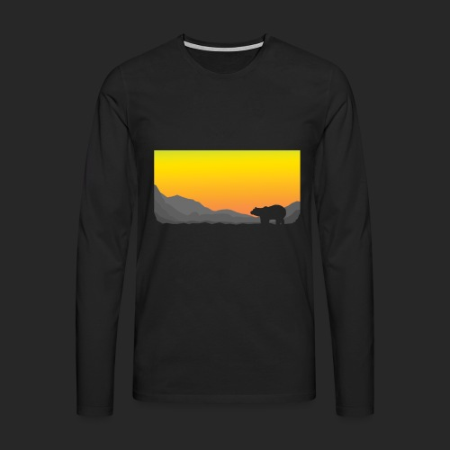 Sunrise Polar Bear - Men's Premium Longsleeve Shirt