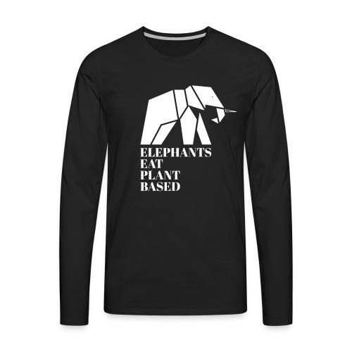 Elephants Eat Plant Based - Männer Premium Langarmshirt