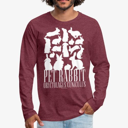 Pet Rabbit - Miesten premium pitkähihainen t-paita