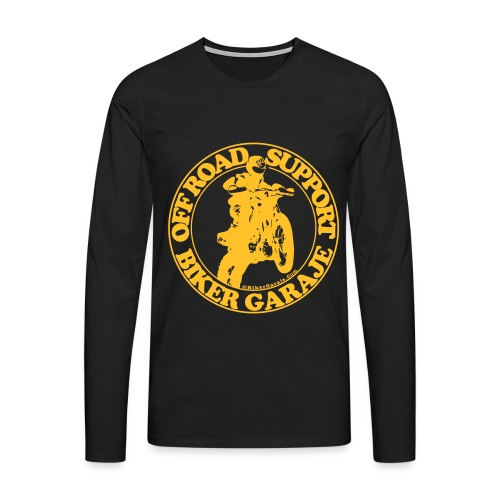 Off Road amarillo def 3 - Camiseta de manga larga premium hombre