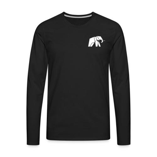 Schönes Elefanten Design für Elefanten Fans - Männer Premium Langarmshirt