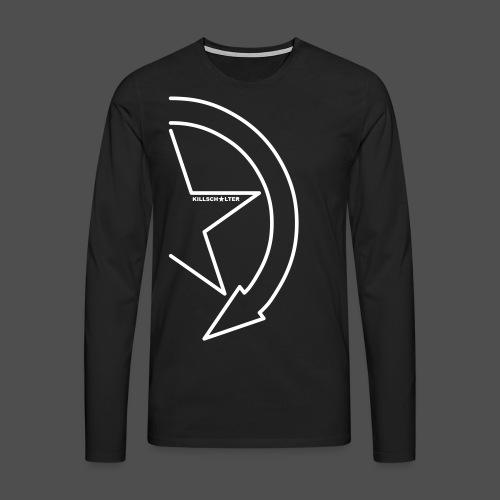 Logo marki 1/2 my - Koszulka męska Premium z długim rękawem