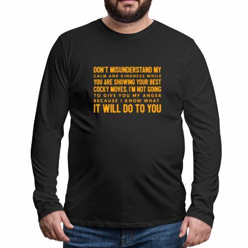 confidence - Herre premium T-shirt med lange ærmer