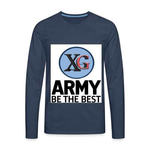 xg-logo-army - Men's Premium Longsleeve Shirt