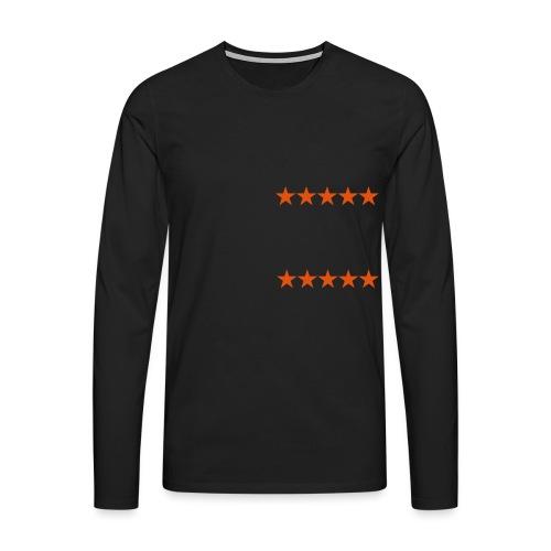 ratingstars - Miesten premium pitkähihainen t-paita