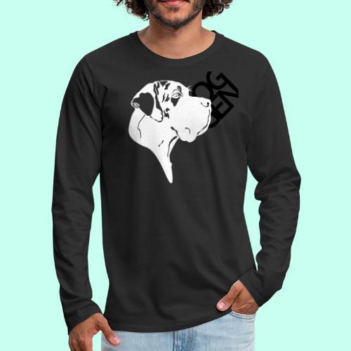 Gefleckter Doggenkopf komplex - Männer Premium Langarmshirt