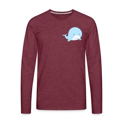 Whale - Maglietta Premium a manica lunga da uomo