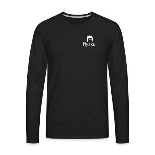 Hyaku White - Premium langermet T-skjorte for menn