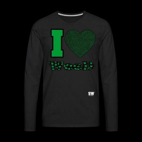 I Love weed - T-shirt manches longues Premium Homme