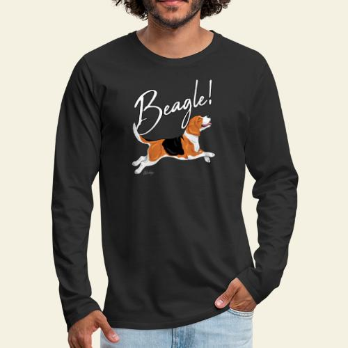 Beagle - Miesten premium pitkähihainen t-paita